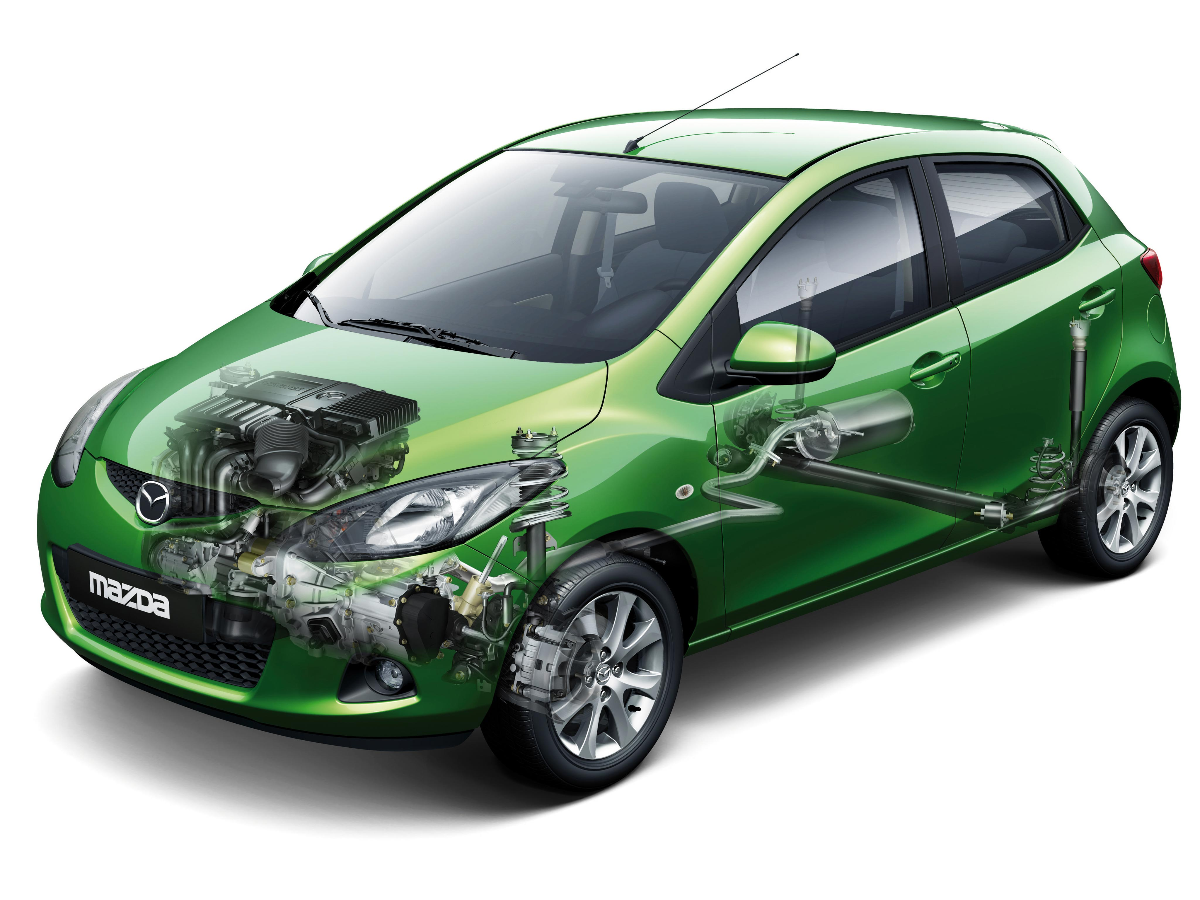 Mazda2 cutaway drawing