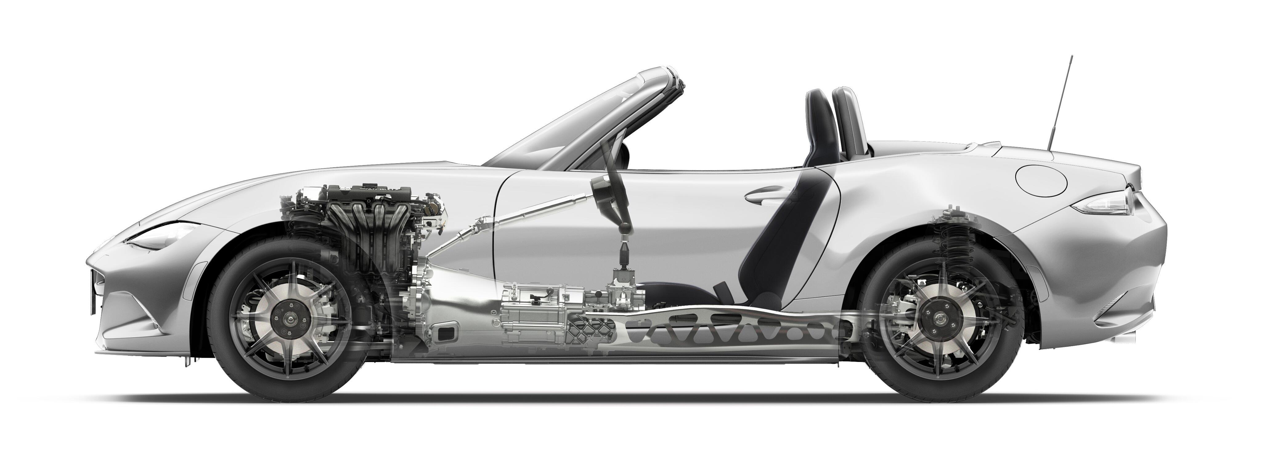 Mazda Roadster cutaway drawing