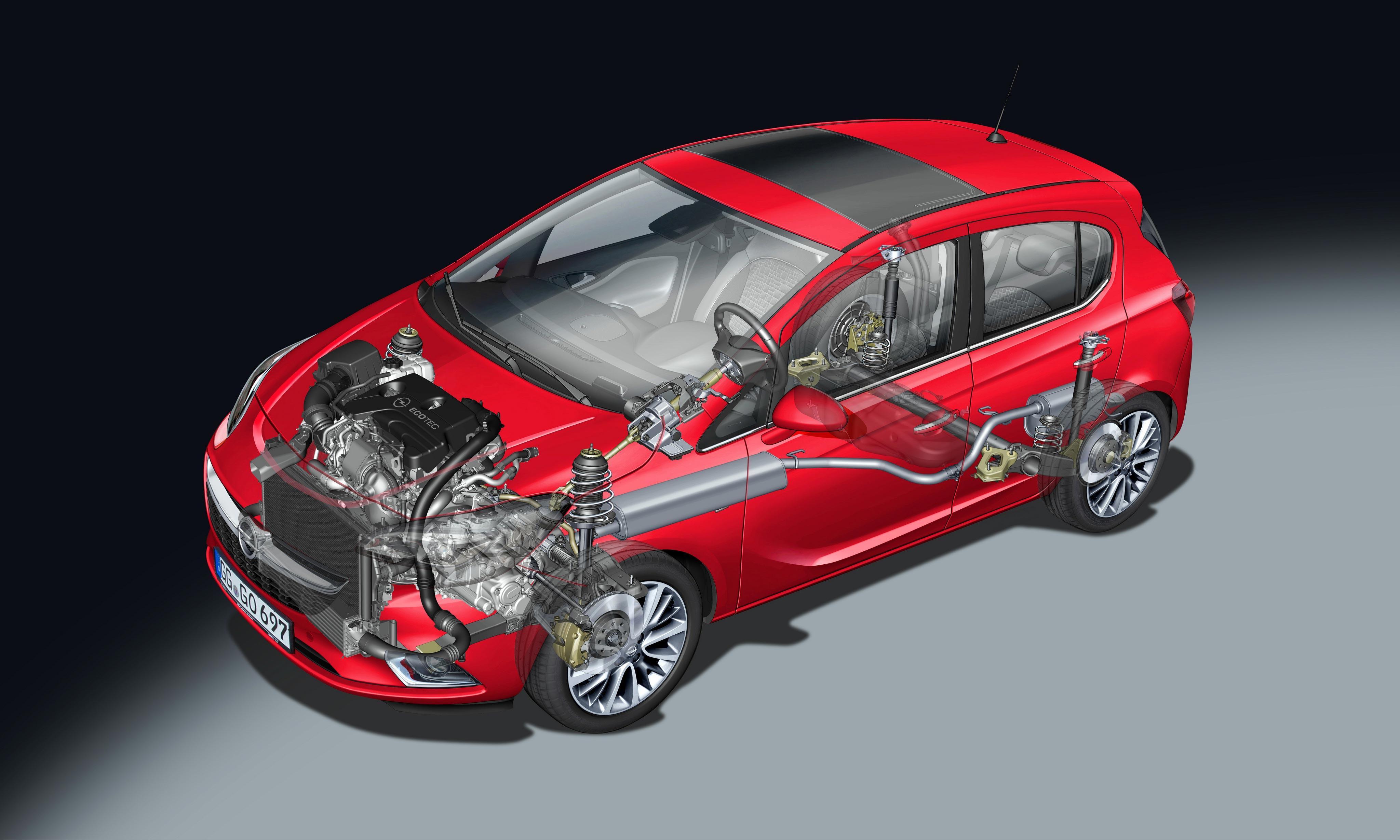 Opel Corsa cutaway drawing