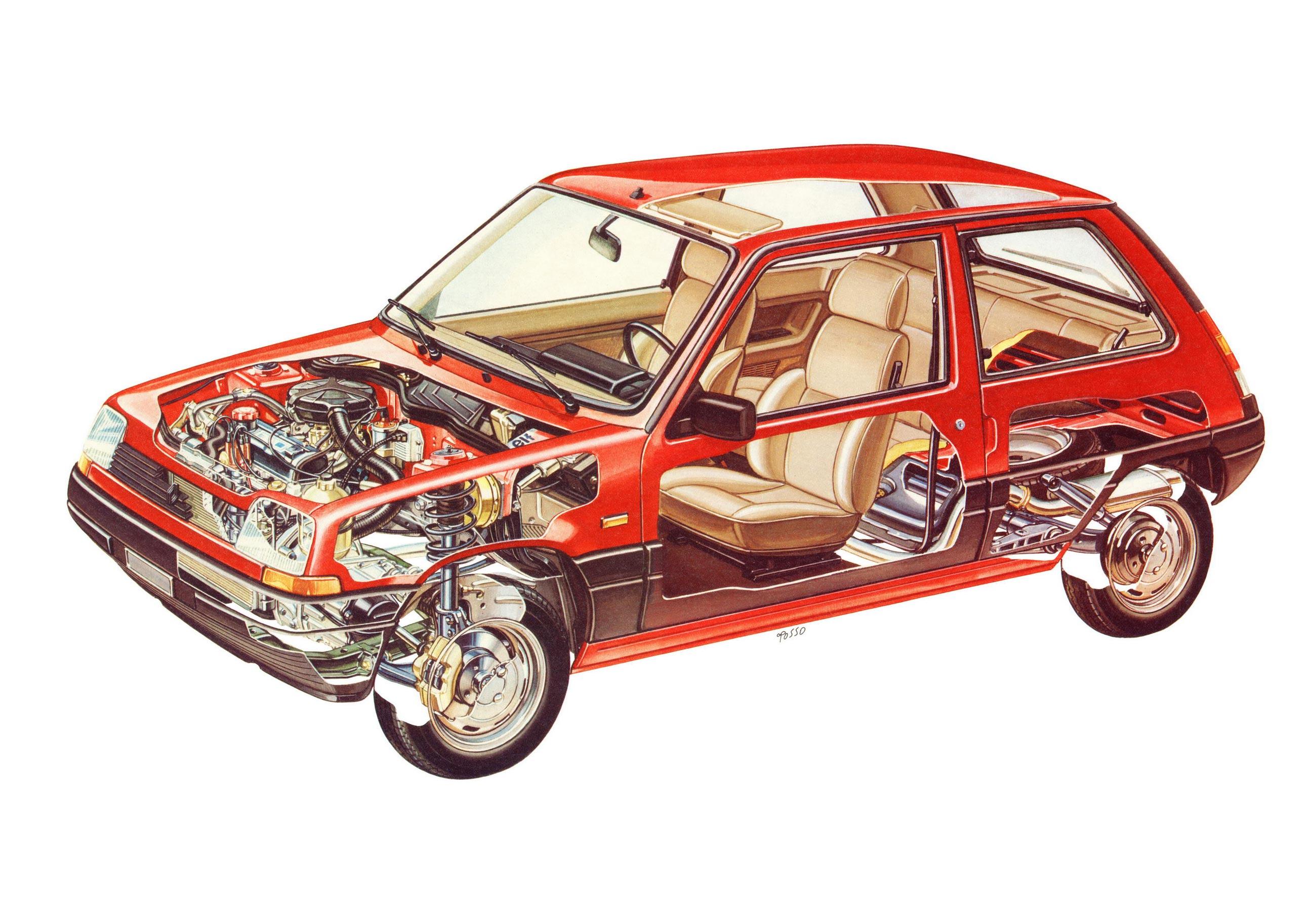 Renault 5 cutaway drawing