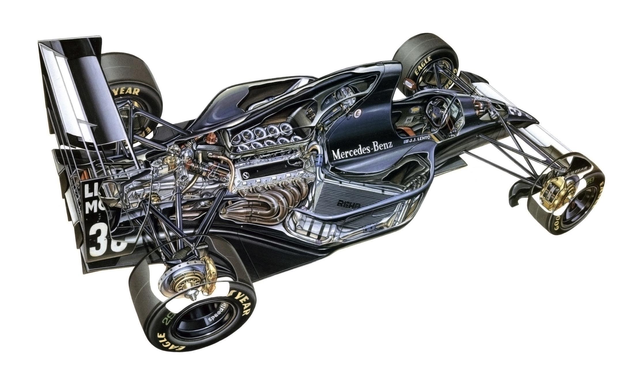 Sauber C12 cutaway drawing