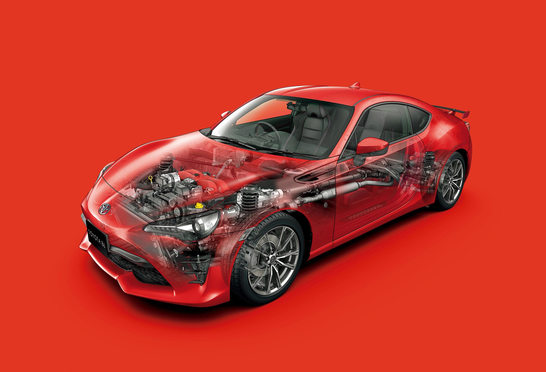 Toyota 86 GT cutaway drawing