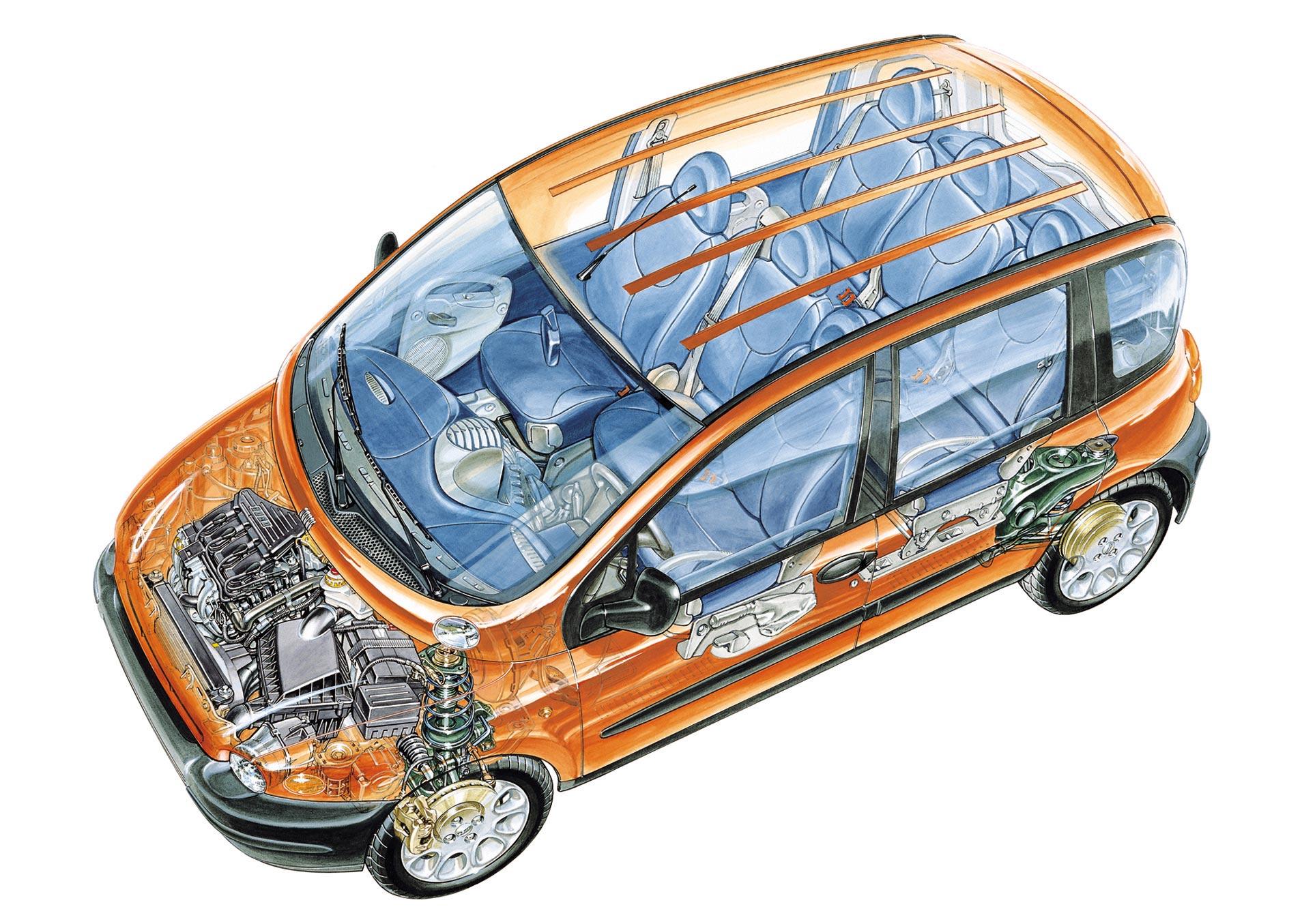 Fiat Multipla cutaway drawing