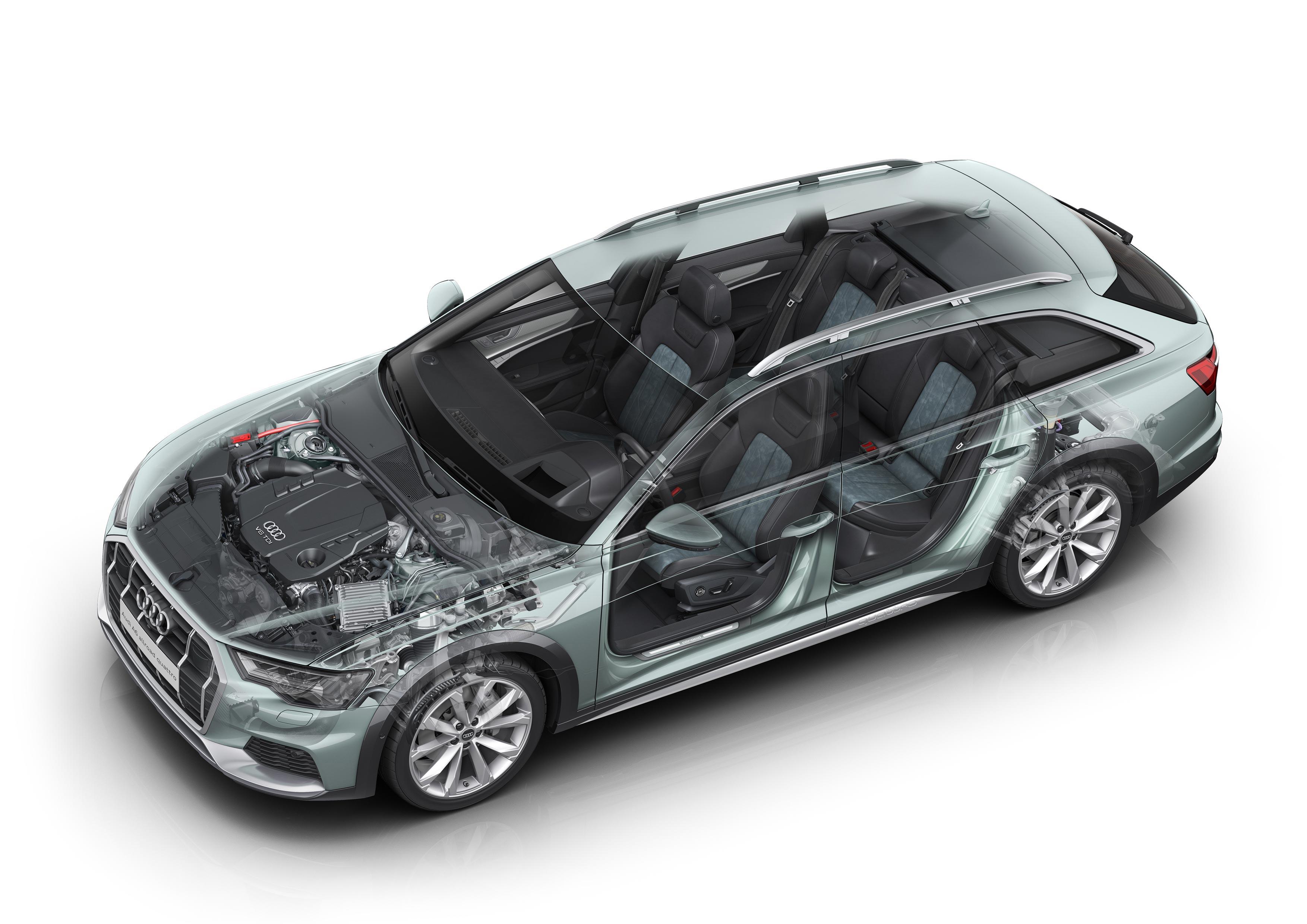 Audi A6 cutaway drawing