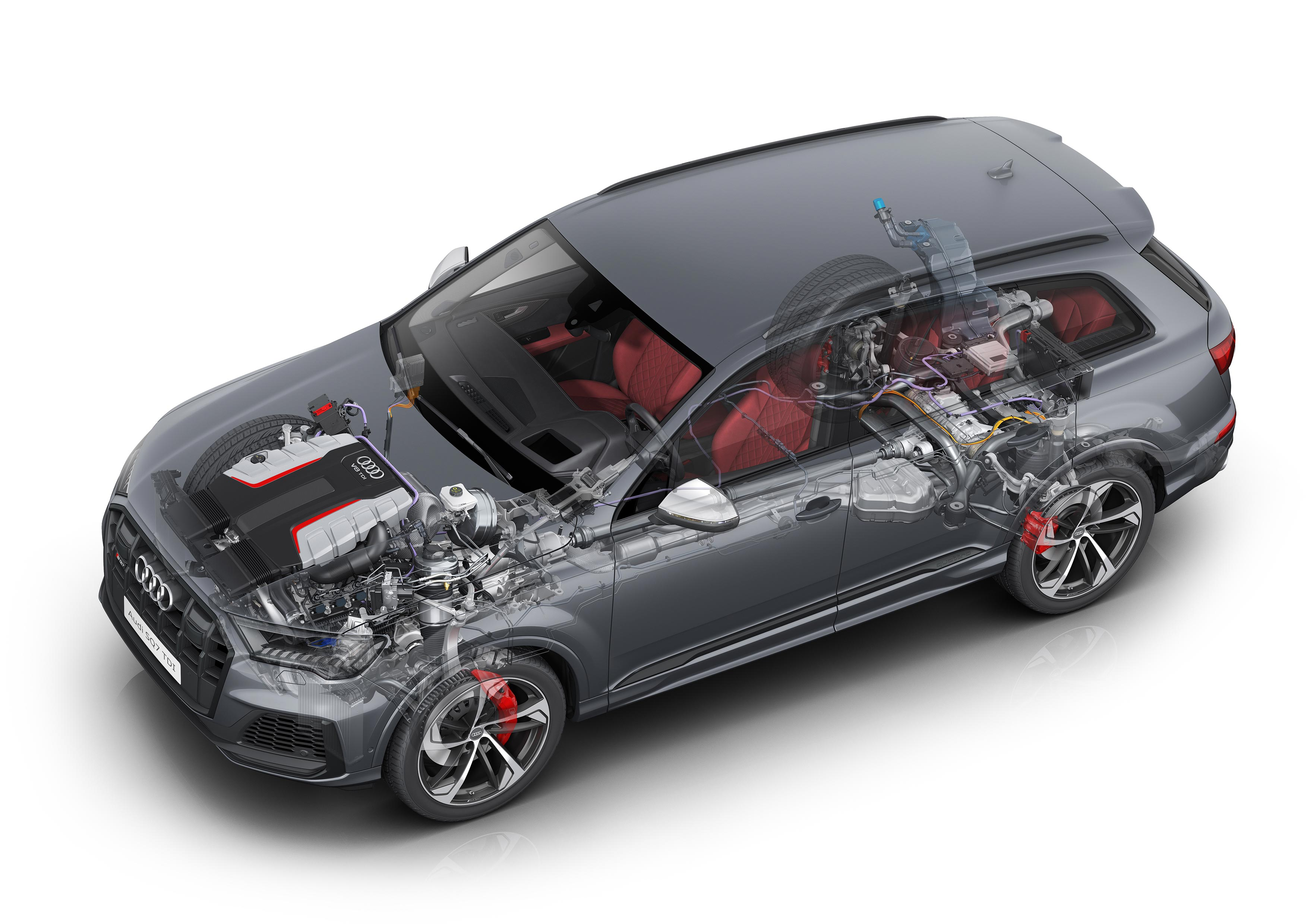 Audi SQ7 TDI cutaway drawing