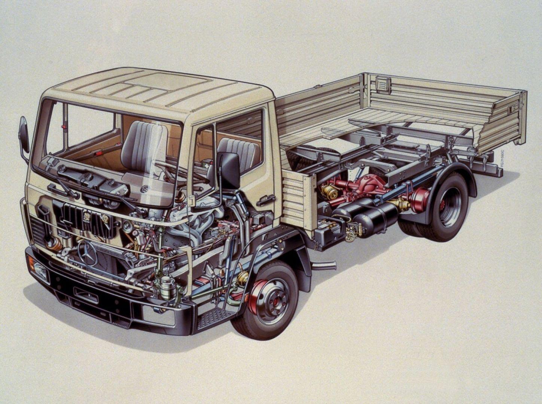 Mercedes-Benz 814 truck cutaway drawing