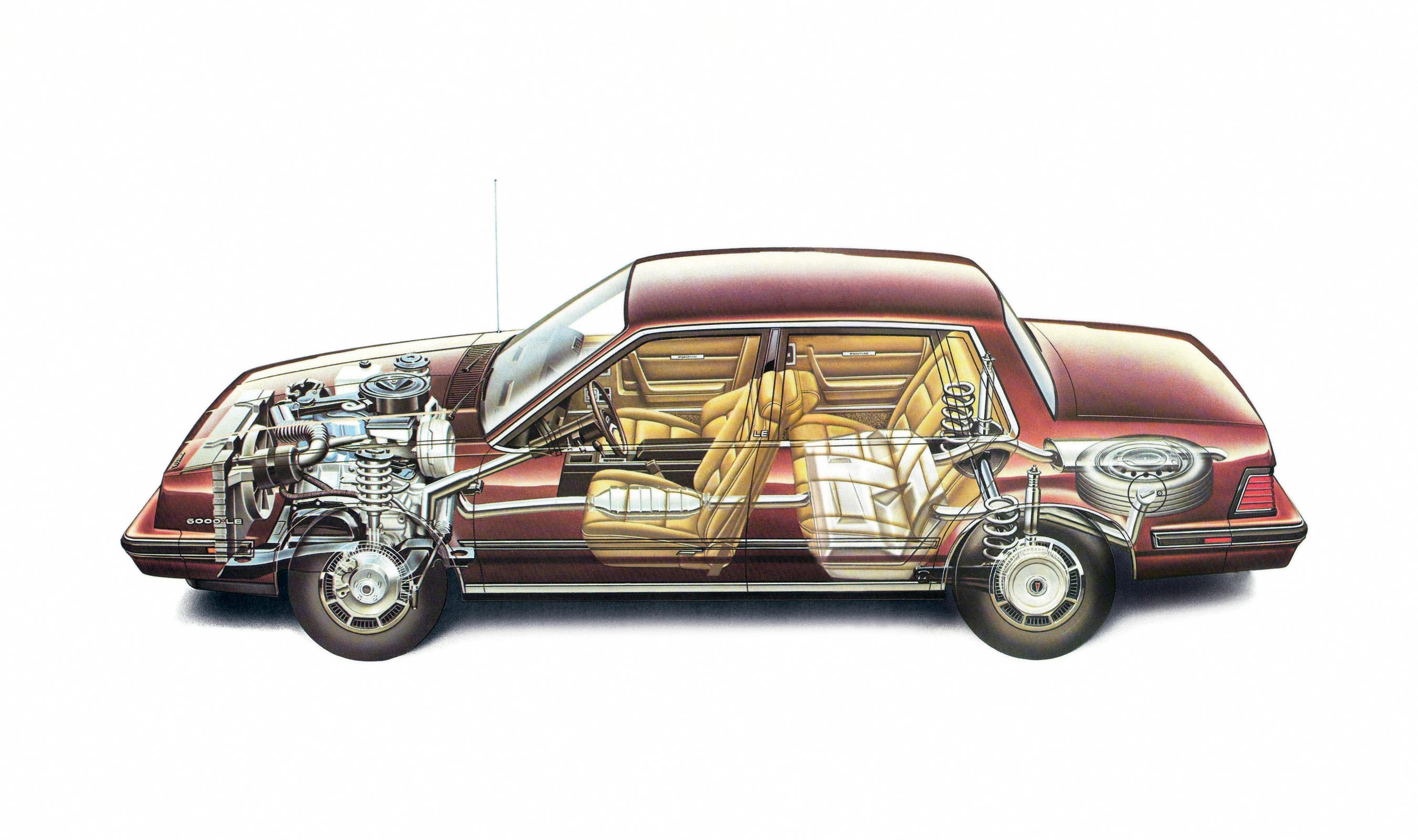 Pontiac 6000 cutaway drawing